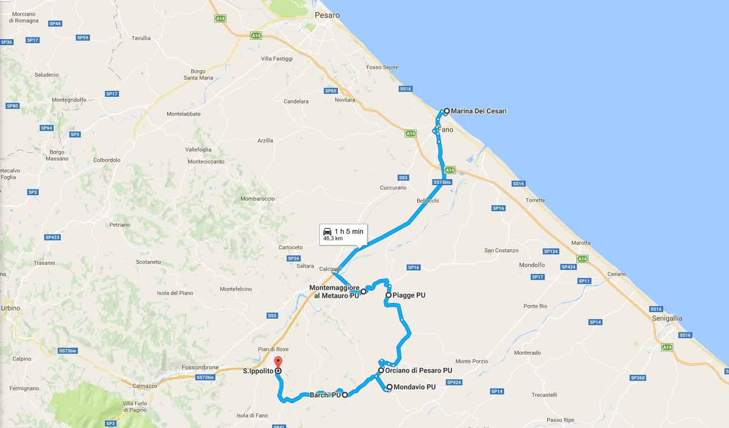 percorso itinerario vino