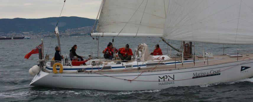Malingri alla Barcolana con le insegne di Marina dei Cesari